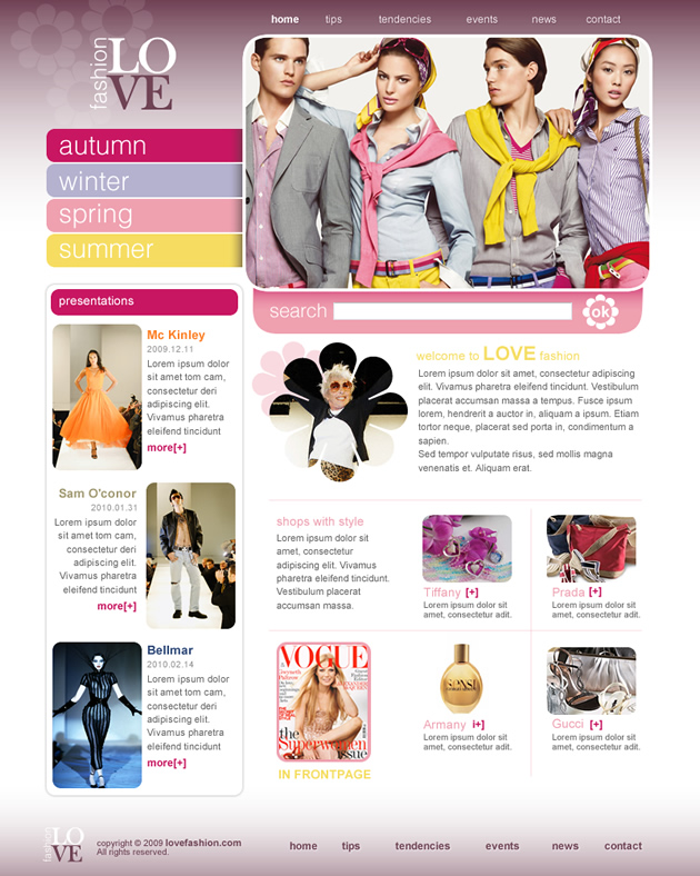 Love Fashion Dreamweaver Template
