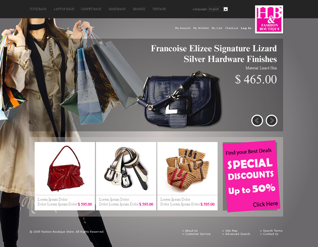 Fashion Shop Dreamweaver Template