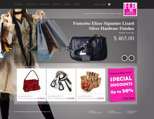 Fashion Shop Dreamweaver Templates