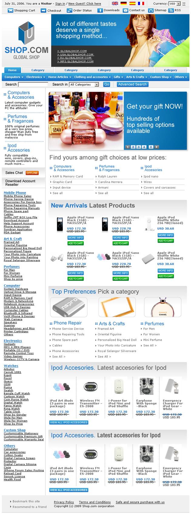 online shop dreamweaver templates
