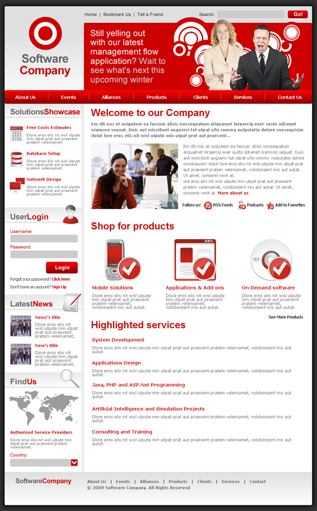 Services Dreamweaver Templates